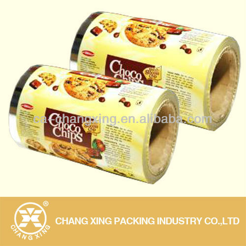 aluminum metalized food grade laminating film in roll for potato chips packing