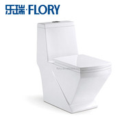 Instock single flush ceramic two piece toilet
