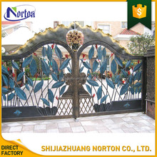 Customized Europe house gate designs decorative wrought iron gates for sale NT--WI162A