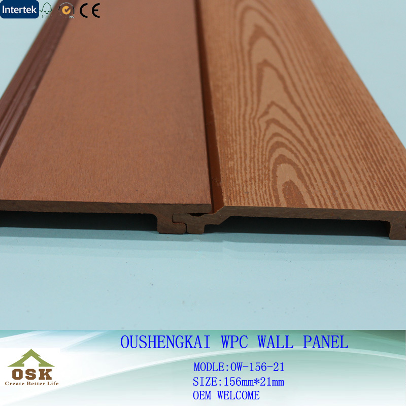 2015New Design UV-resistant WPC Wall Panel with CE SGS FSC