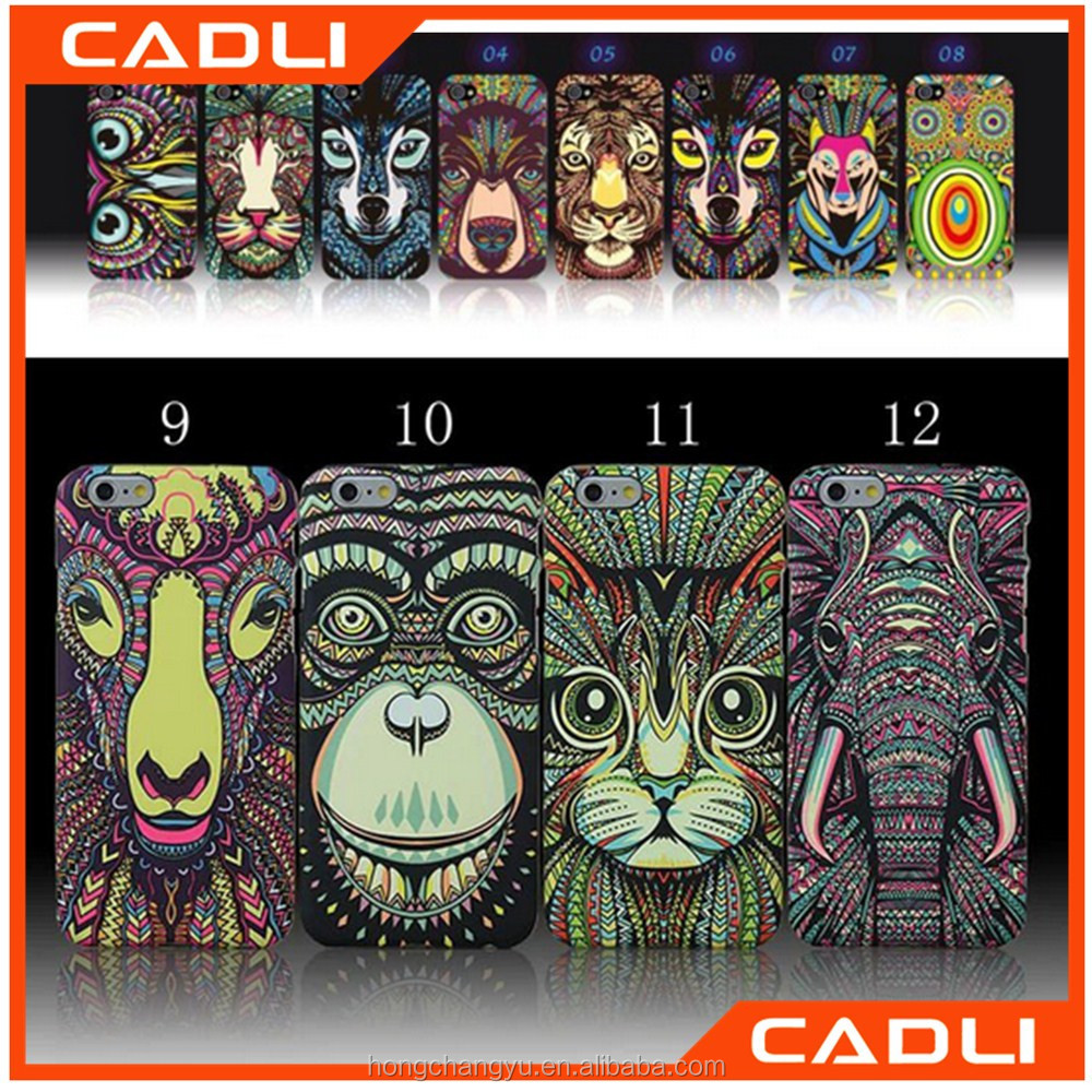 Glow In The Dark Animals Lion Wolf Owl Pattern Hard PC Back Luminous Phone Case For iPhone 7 7 Plus