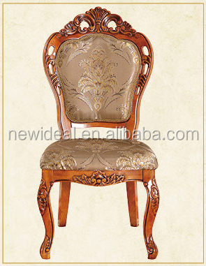 Fabric upholstery wooden side chair (NG2887)