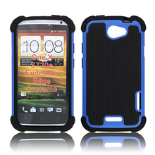 TPU AND PC 2in1 COMBO HYBRID HARD SOFT ARMOR BACK COVER FOR HTC ONE M7 X CASE