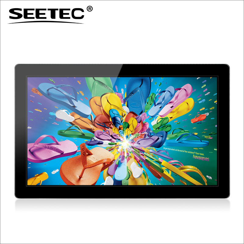 SEETEC 21.5 inch full HD digital capacitive touchscreen bus ad player with HDMI input