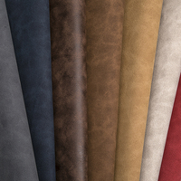 100 Microfiber Cow Suede Artificial Pu Leather Flocking Synthetic Goat Imitation Suede PU Pvc Leather Texture