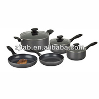 8pcs Industrial spiral cookware set aluminum nonstick