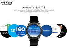 MaPan OEM customized 1.39'' BT anddroid Smart Watch MW10 with Real-time heart rate detector