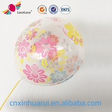 china supplier wholesale US standard 12 inch transparent balloon with confetti
