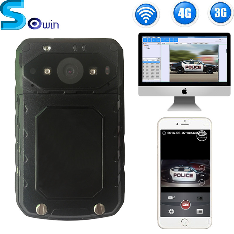 3G/4G live streaming Continous recording 6h motion detecting police video body worn camera