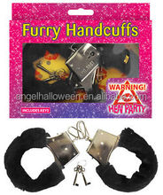 Black plush handcuff sexy adult sexy for adult woman SH2064