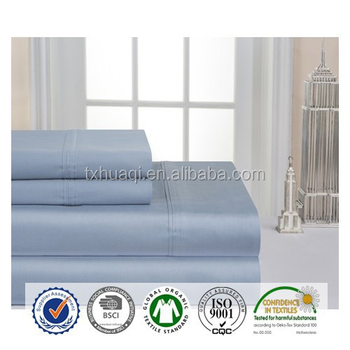 1200T Series 4pc Bed Sheet Set - Queen, solid color