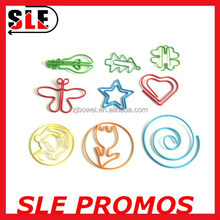 flower / butterfly / star/ heart / clover shaped PET coat paper clip