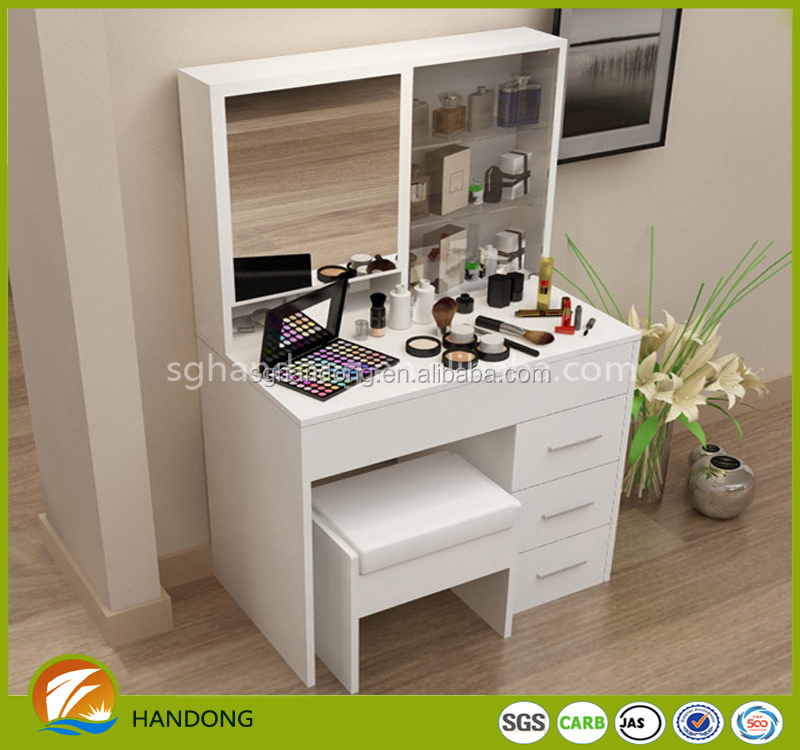 White Vanity Set Make Up Table With Mirror/ White Dressing Table With Stool