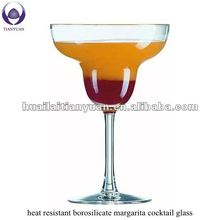 heat resistant borosilicate margarita cocktail glass