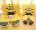 2015 hot sale minions memory foam seat cushion, neck pillow, slow-recovery foam lumbar 4pcs