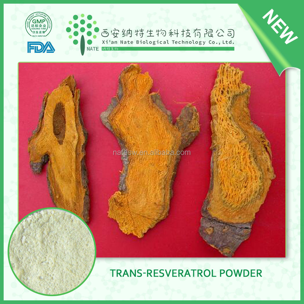 Antioxidant health care product trans resveratrol extract powder from Polygonum Cuspidatum or grape fruit