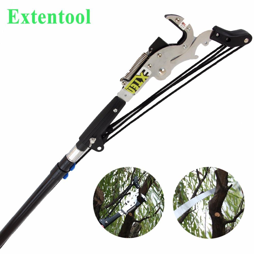 Manufacturer pole pruner with 15 saw blade with long telescopic handle for tree branch pruning