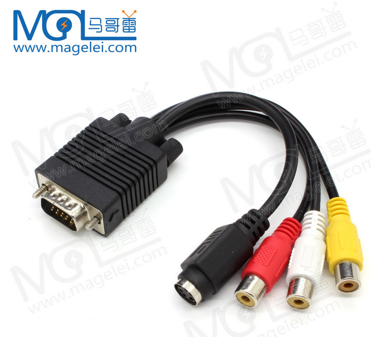 VGA male to S-Video RCA/AV Adapter Converter Cable