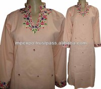 Ladies Designer Hand Embroidered Long Kurti