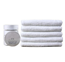 T03 Reusable Compressed Towels Tablets100% Cotton White
