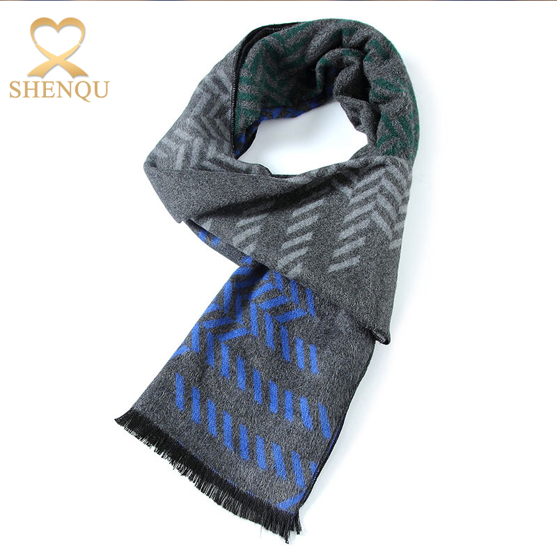 2017 jacquard patterns polyester cotton fashion scarf men scarf acrylic scarf