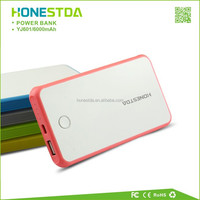 Newest Portable Elegant 6000mAh famous brand mobile power bank