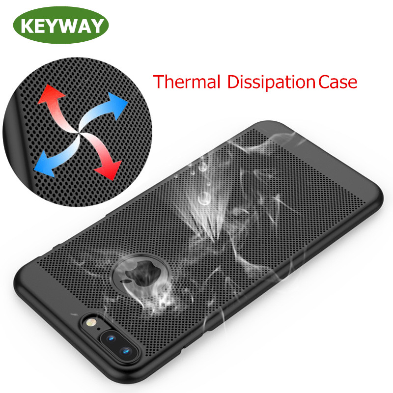 Fashion Summer Gift Ultra Thin Heat Dissipation Phone Case for iphone 7 Case, Mobile Phone Cover Case For iphone 7 plus