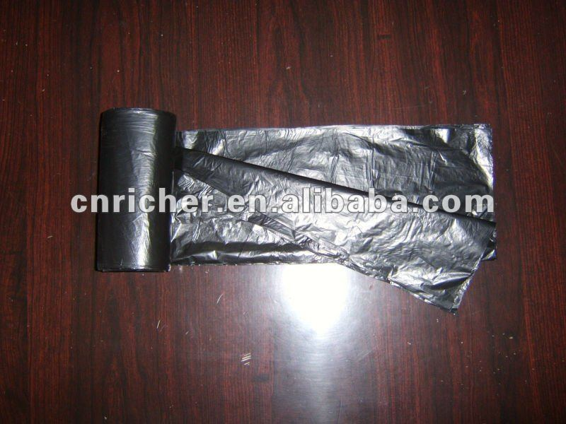 HDPE/LDPE recycle c-fold eco friendly trash/garbage/rubbish/refuse/waste plastic flat bag on roll