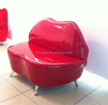 Replica red PU/Italian genuine leather glossy lips shape sofa ,bocca sofa, PU kiss sofa
