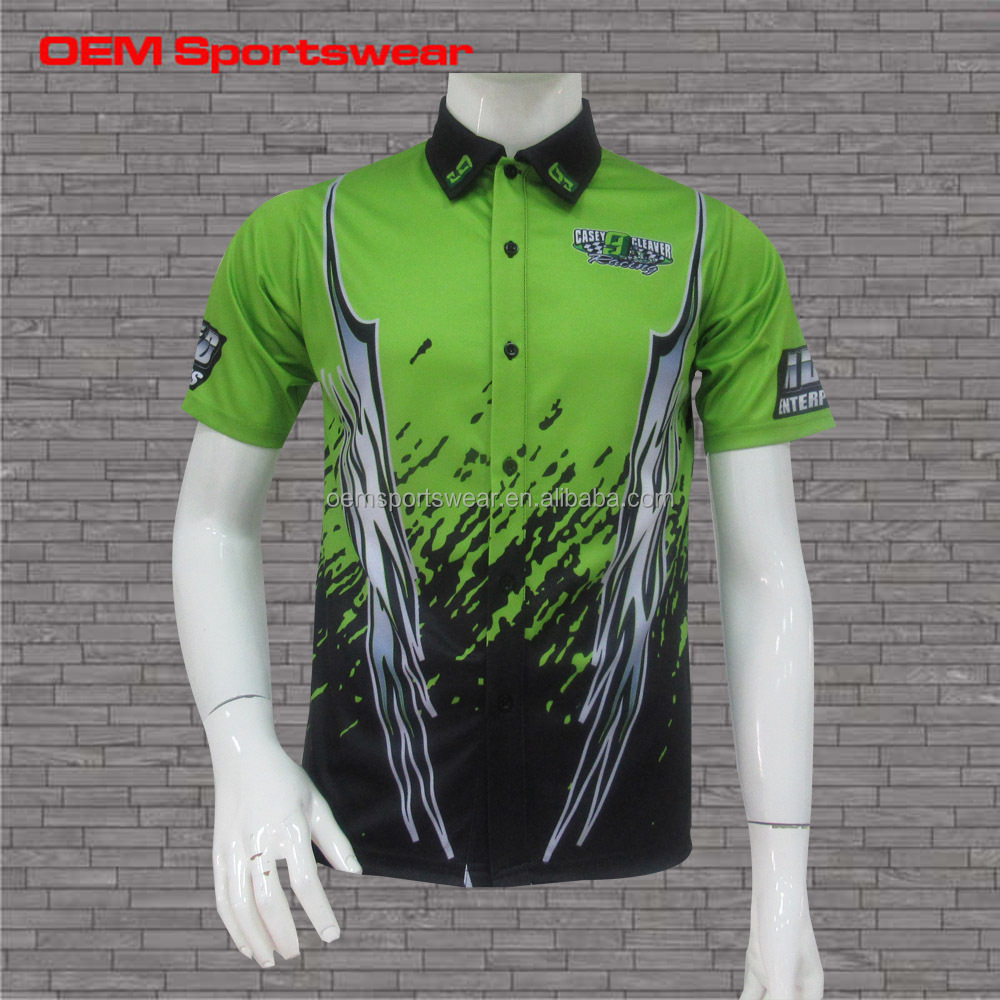 Motorcycle jerseys custom mens racing pit crew shirts