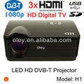 led projektor with digital tv tuner 1080p 3 HDMI 1280 * 800 DVB-T projector