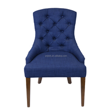 Scandinavian Simple Modern Chair navy blue velvet dining chair