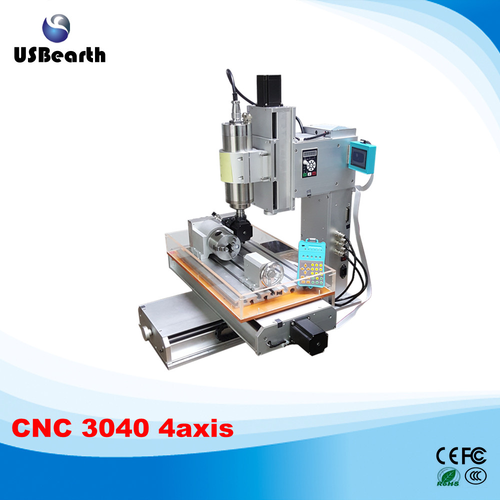 2016-2017 hot sale Mini CNC router 3040 with rotation axis 3040 4 axis cnc engraving machine 4axis wood carving machine