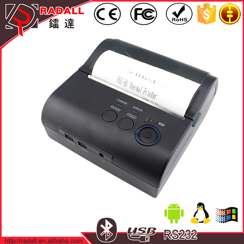 NT-8001DD 80mm Portable Bluetooth Thermal Receiptp Printer For Android Mobile/IOS/Window System