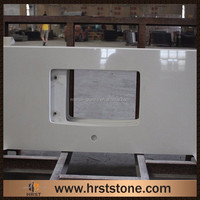 Artificial stone bathroom tops starlight white quartz countertop