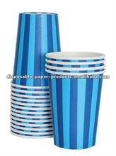 Striped Paper Cups Manufacturers navy and blue striped paper cups 9oz