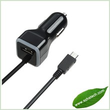 3.4A Dual Rapid USB Car Charger with Micro USB cable for Samsung Motorola HTC smartphone mobile phone