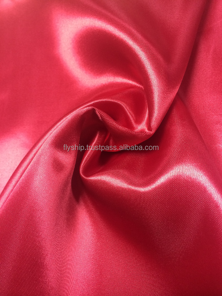 High quality 100% polyestger woven satin fabric for clothes