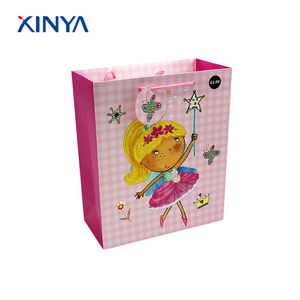 Excellent Quality pink shopping pink paper lunch bags with handle