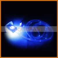 Colorful Led Smiley Face Micro USB Cable, Light Up Led Flat Cable For Smartphone