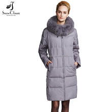Cheap price hot sale top quality Real Fox Fur Collar Female Jacket Down Winter Coat