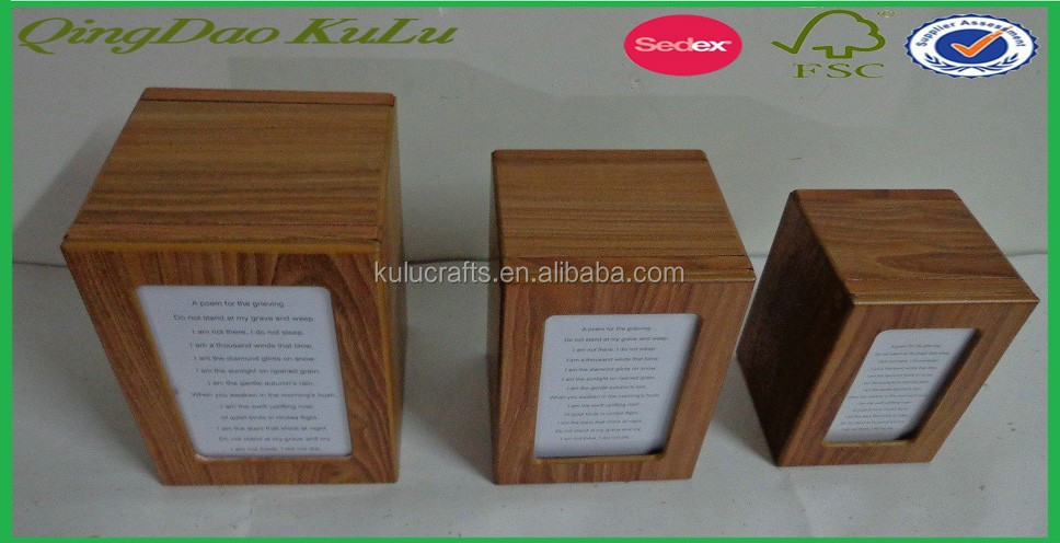 top quality cheap solid wood pet urn,pet urn and casket,pet cremation urn