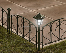 Garden high quality plastic fence panel post with solar light