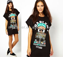 Bear T-Shirt Dress,Cartoon characters fancy dress