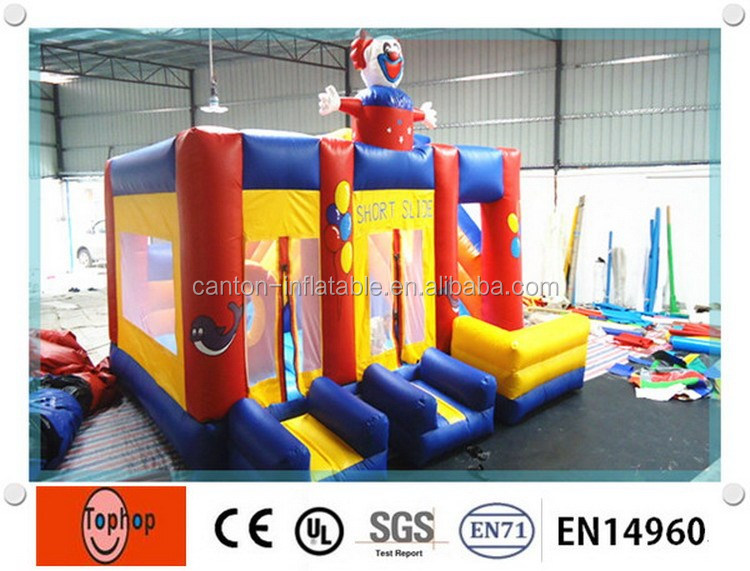 test report 2016 latest funny playground kid inflatable jumping nemo bouncer clown cartoon