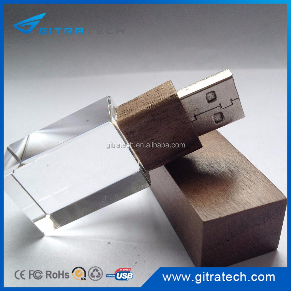 Eco Stick USB - promotional wooden Crystal Acrylic usb flash drive
