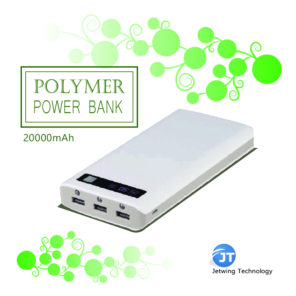 High capacity Number LED indicator mobile power bank 20000 mAh for smart phone