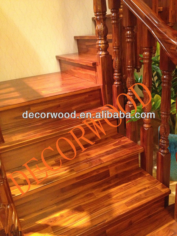 Acacia wooden stair treads and posts