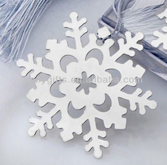Classics paper chain snowflakes installation