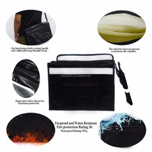 Fireproof Money And Document Bag FREE Shoulder Strap Fire & Water Resistant Cash/Envelope Holder -Silicone Coated